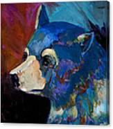 Blue Bear II Canvas Print