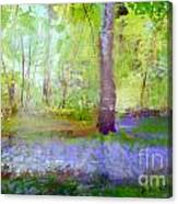 Blue Bells In The Wood Painting Number 1 Canvas Print