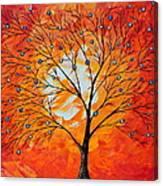 Blue Berry Tree Canvas Print