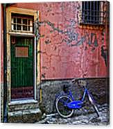 Blue Bicycle Monterosso Italy Dsc02592  Canvas Print
