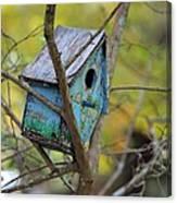 Blue Birdhouse Canvas Print