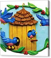 Blue Birds Fly Home Canvas Print