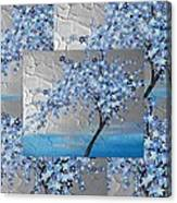 Blue Blossom Tree Canvas Print