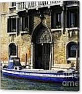 Blue Boat Venice Canvas Print