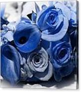 Blue Bouquet Canvas Print