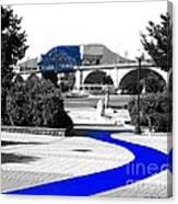 Blue Brick Path Canvas Print