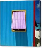 Blue Cabin Canvas Print