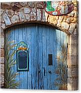 Blue Cafe Doors Canvas Print