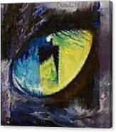 Blue Cat Eye Canvas Print