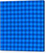 Blue Checkered Tablecloth Fabric Background Canvas Print