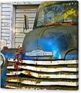 Blue Chevy   Canvas Print