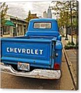 Blue Chevy Tailgate Canvas Print