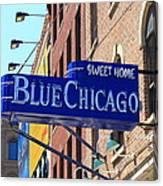 Blue Chicago Club Canvas Print