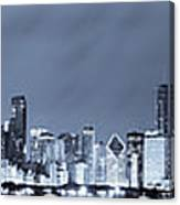 Blue Chicago Skyline Canvas Print