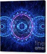 Blue Circle Fractal Canvas Print