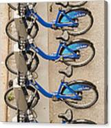 Blue City Bikes Canvas Print