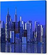 Chicago Blue City Canvas Print