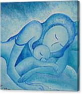 Blue Co Sleeping Canvas Print