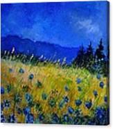 Blue Conflowers 454150 Canvas Print