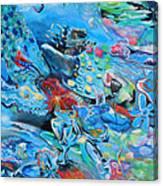 Blue Confusion Canvas Print
