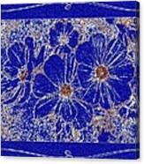 Blue Cosmos Abstract Canvas Print