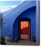 Blue Courtyard Canvas Print