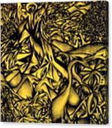 Blue Cranes Canvas Print