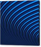 Blue Curves Canvas Print