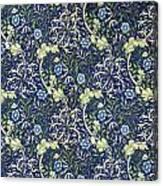 Blue Daisies Design Canvas Print
