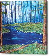 Blue Day Stream Canvas Print