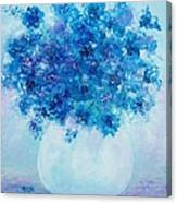Blue Delphiniums Canvas Print
