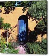 Blue Door At Old Mesilla Canvas Print