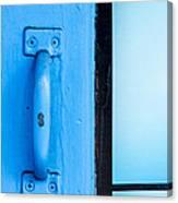 Blue Door Handle Canvas Print