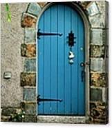 Blue Door In Baltimore Canvas Print