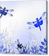 Blue Dragonfly Art Canvas Print