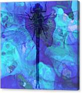 Blue Dragonfly By Sharon Cummings Canvas Print