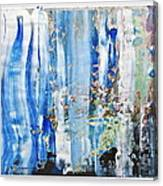 Blue Earth Abstract Canvas Print