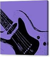 Blue Electric Guitar Canvas Print