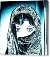 Blue Eye Lady Canvas Print
