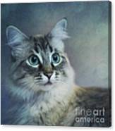 Blue Eyed Queen Canvas Print