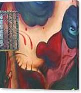 Blue Eyed Skull Canvas Print