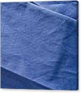 Blue Fabric Canvas Print