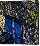 Blue Fire Escape Canvas Print