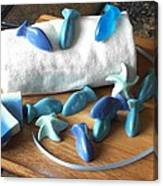 Blue Fish Mini Soap Canvas Print