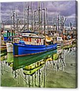 Blue Fishing Boat Hdr Canvas Print