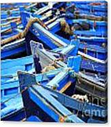 Blue Fishing Boats Canvas Print