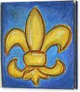 Blue Fleur De Lis Canvas Print