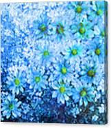 Blue Floral Fantasy Canvas Print