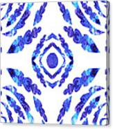 Blue Floral Pattern II Canvas Print