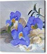 Blue Flower Still Life Canvas Print